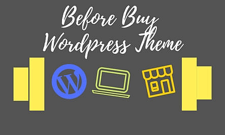 Before buying a wordpress theme