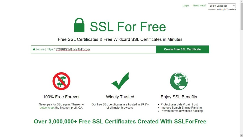 Free-SSL-For-Your-Domain- How to start a Blog